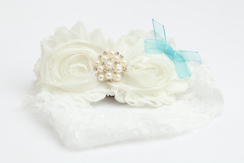 Something Blue Bow Couture Garter