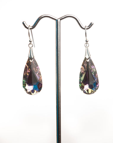 I043F Crystal Tear Drop Earrings