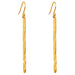 Alexa Long Hammered Bar Earrings | Gold