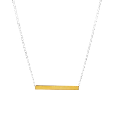 Alexis Fine Polished Bar Necklace | Gold