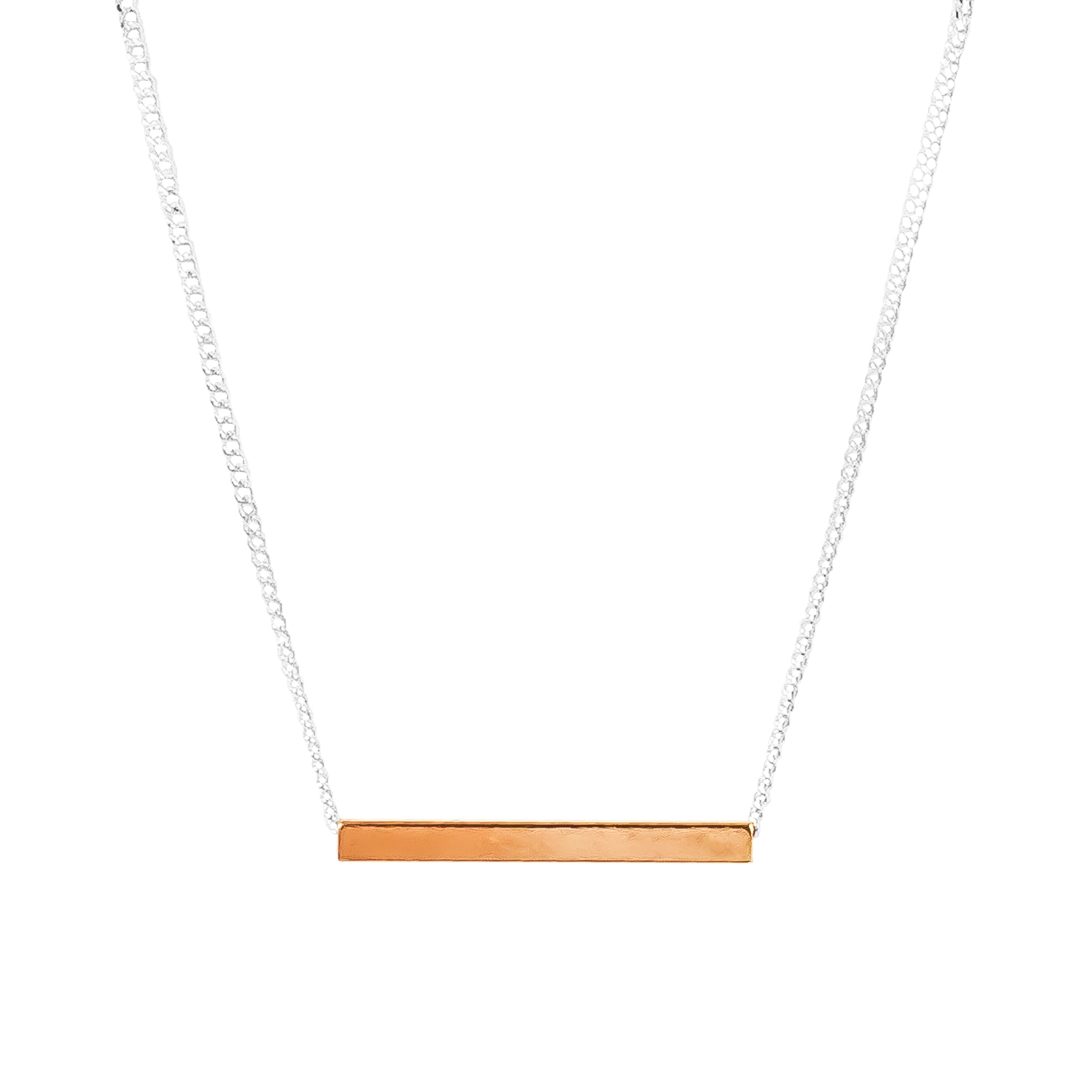 Alexis Fine Polished Bar Necklace | Rose