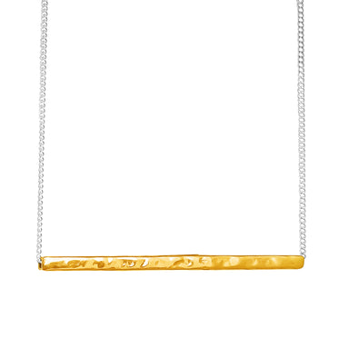 Alexis Hammered Bar Necklace | Gold