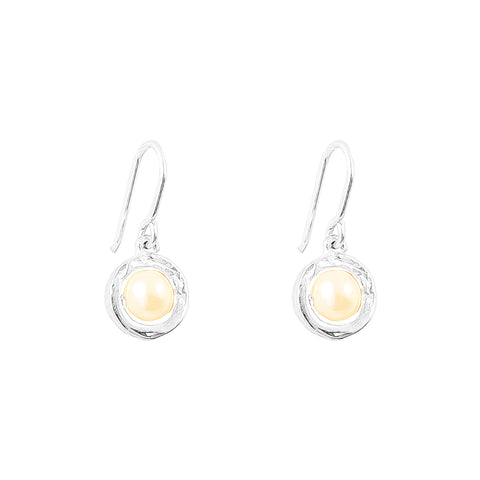 Atticus Fine Drop Earrings | Pearl Detail