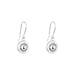 Atticus Fine Drop Earrings | Polished Silver Detail