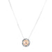 Atticus Fine Necklace | Hammered Rose Detail