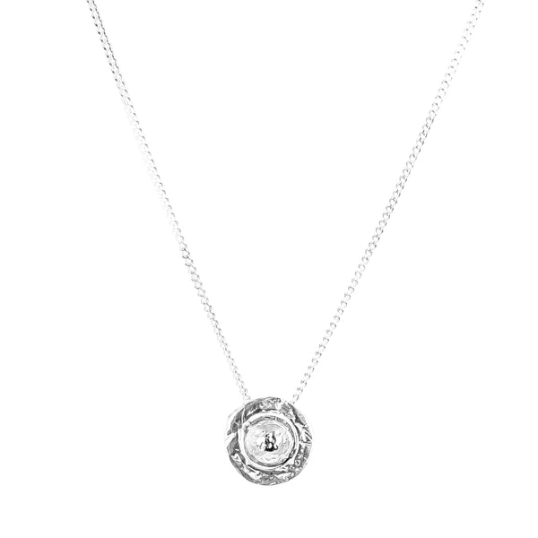 Atticus Fine Necklace | Hammered Silver Detail