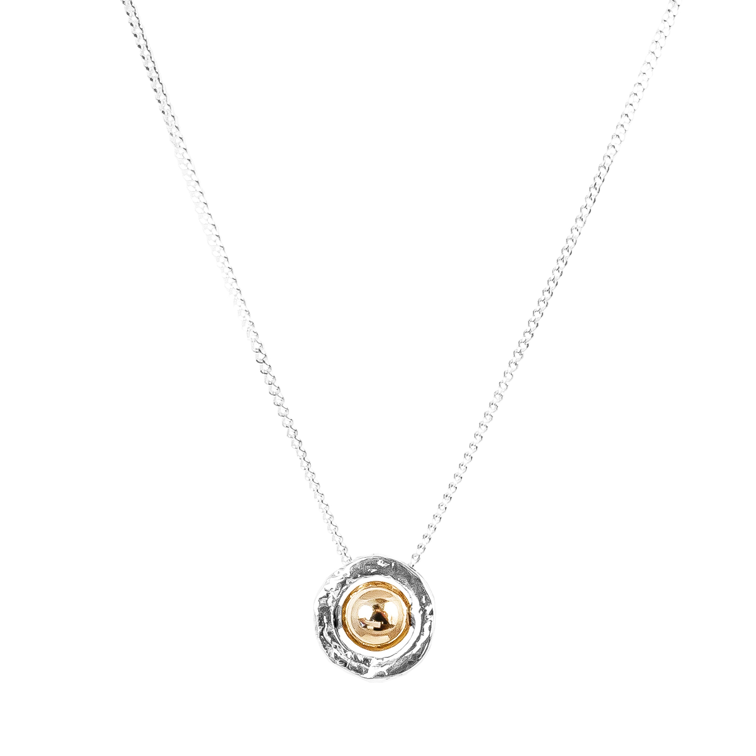 Atticus Fine Necklace | Polished Gold Detail