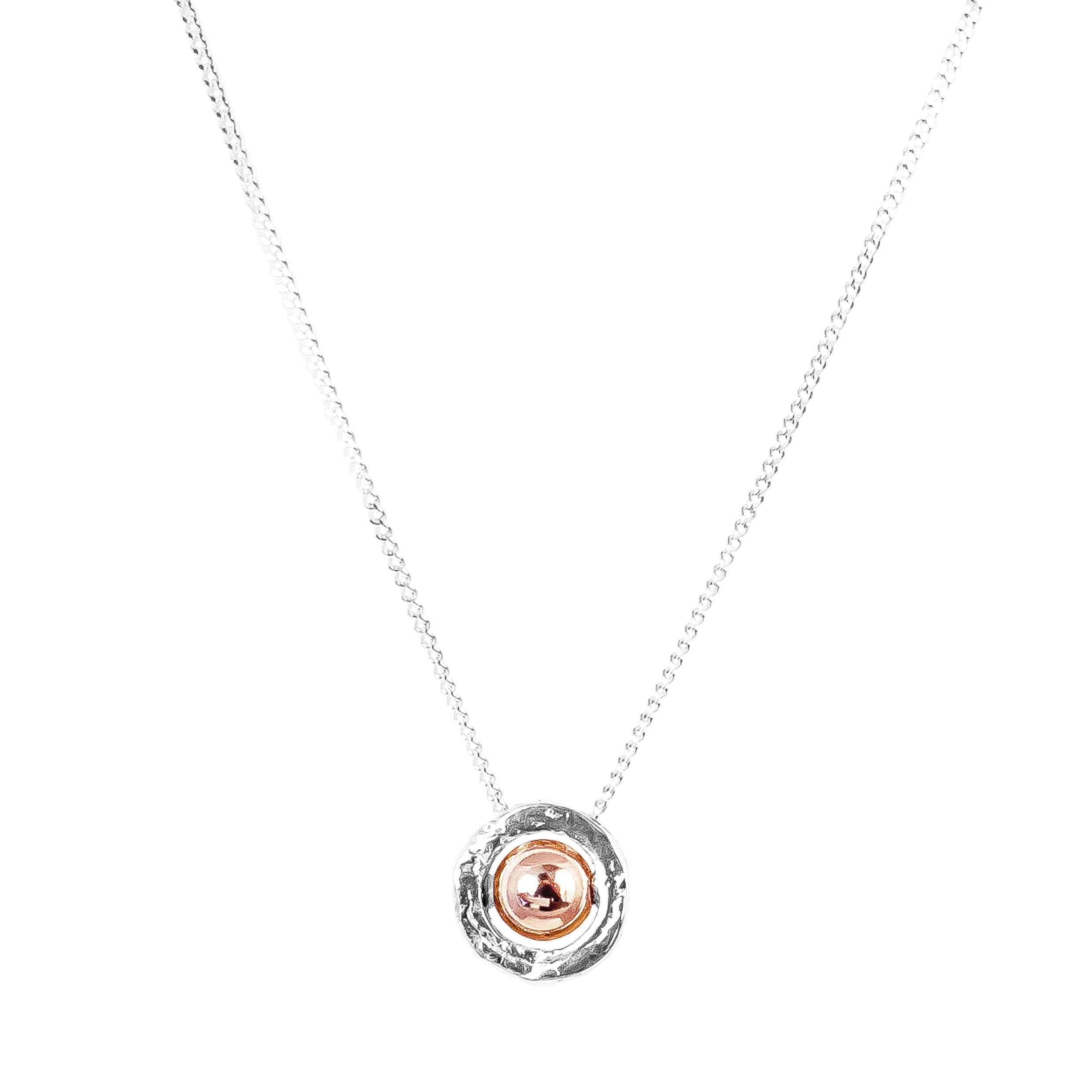 Atticus Fine Necklace | Polished Rose Detail