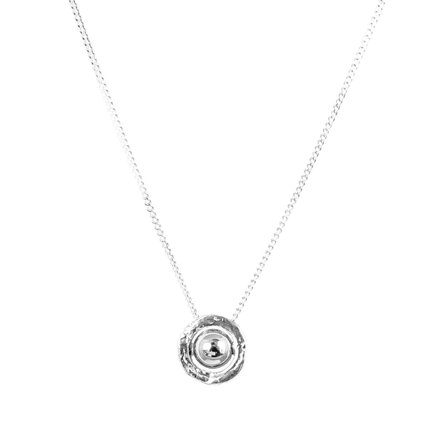Atticus Fine Necklace | Polished Silver Detail