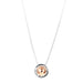 Atticus Large Charm Necklace With Box Chain - Long | Polished Rose Detail