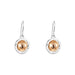 Atticus Large Drop Earrings | Hammered Rose Detail