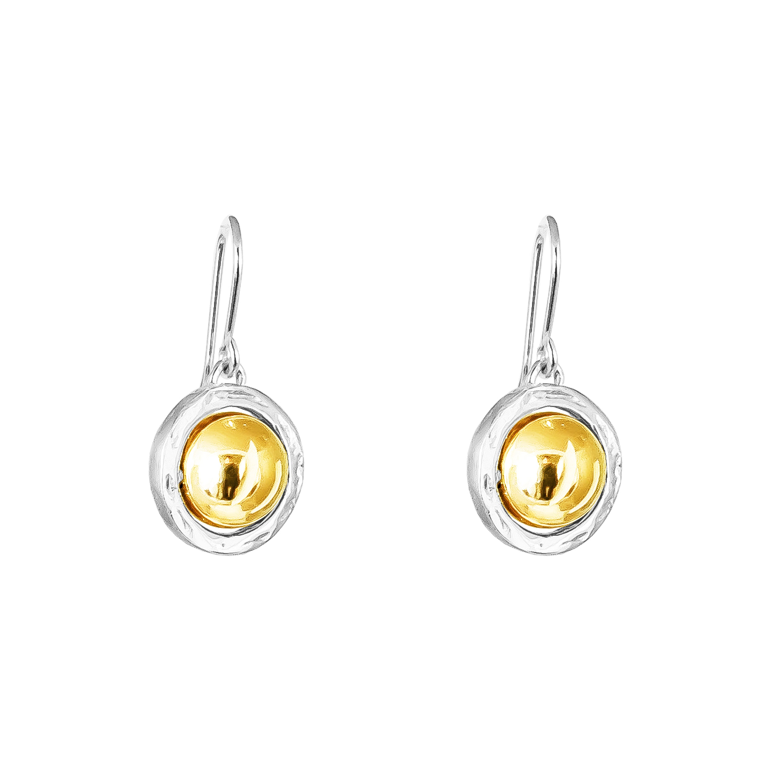 Atticus Large Drop Earrings | Polished Gold Detail