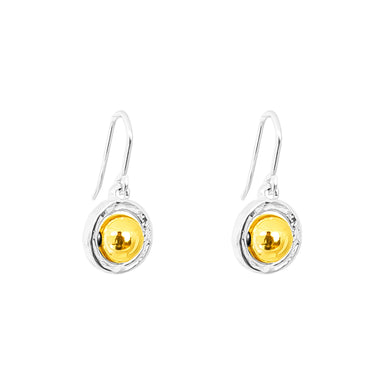 Atticus Medium Drop Earrings | Polished Gold Detail