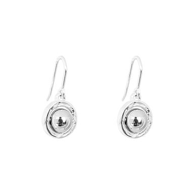 Atticus Medium Drop Earrings | Polished Silver Detail