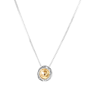 Atticus Medium Necklace | Hammered Gold Detail