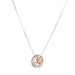 Atticus Medium Necklace | Hammered Rose Detail