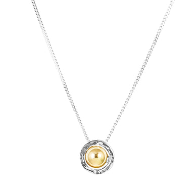 Atticus Medium Necklace | Polished Gold Detail