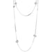 Atticus Multi Feature Statement Chain Necklace - Long | Polished Silver Detail