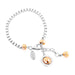 Atticus Wide Box Chain Bracelet | Polished Rose Detail