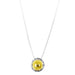 Atticus X-Large Charm Necklace With Box Chain - Long | Hammered Gold Detail