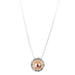 Atticus X-Large Charm Necklace With Box Chain - Long | Polished Rose Detail
