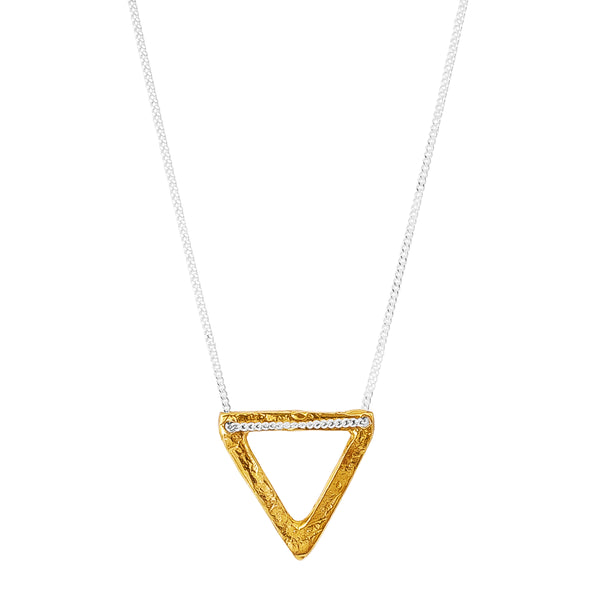 Aztec Necklace | Hammered Gold Detail