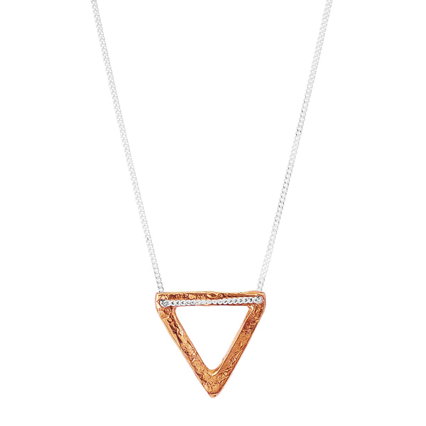 Aztec Necklace | Hammered Rose Detail