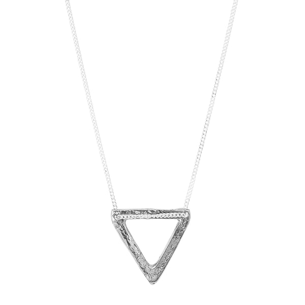 Aztec Necklace | Hammered Silver Detail