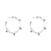 Bella Medium Hammered Hoop Earrings | Silver Detail