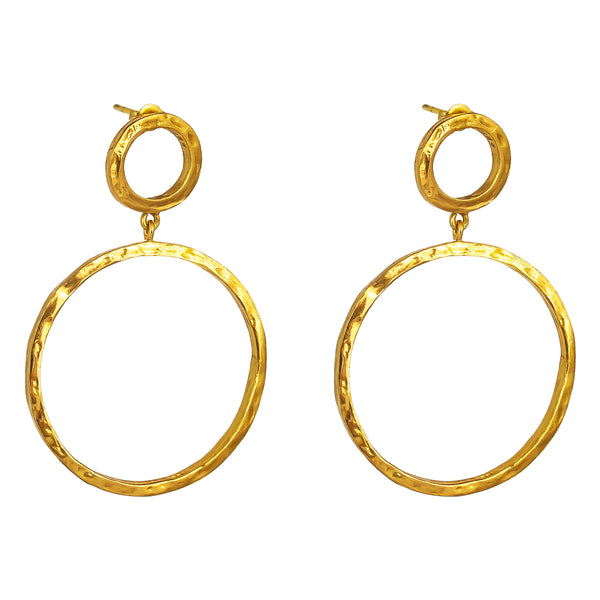 Belvue Hammered Earrings | Gold