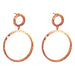 Belvue Hammered Earrings | Rose