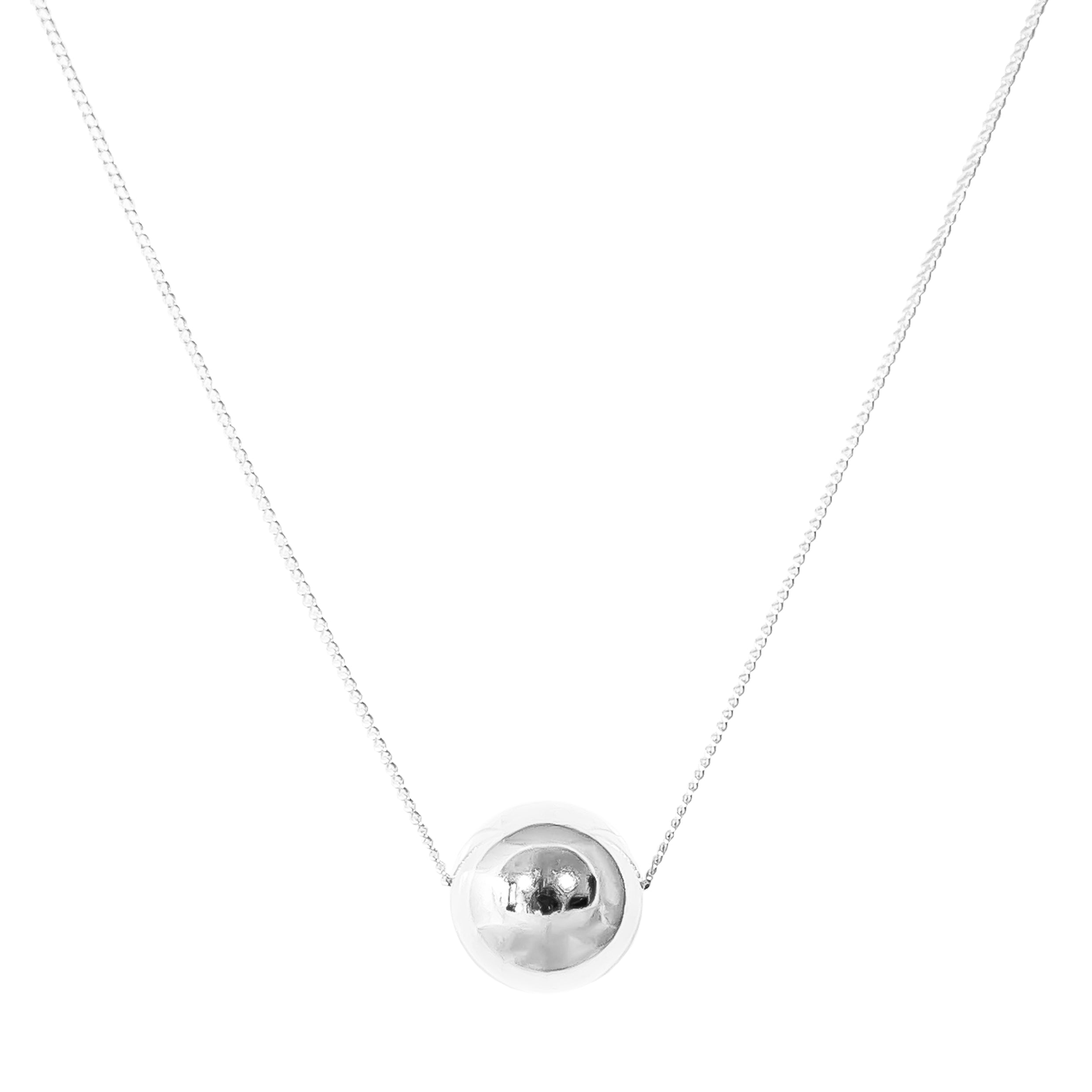 Billy Large Necklace | Polished Silver Detail