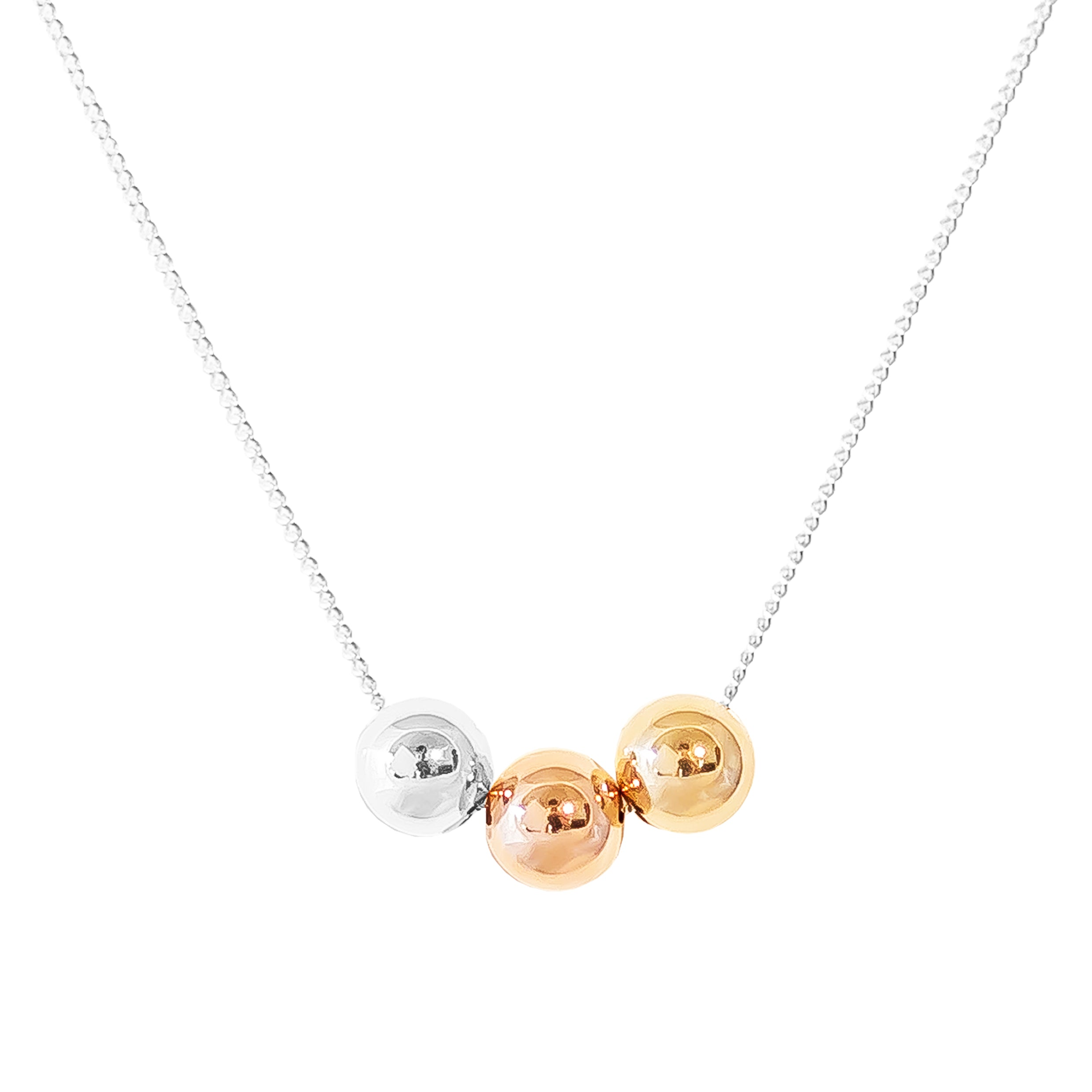 Billy Medium Tri Necklace | Polished Tri Detail