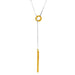Bounty Lariet Necklace | Hammered Gold Detail