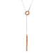 Bounty Lariet Necklace | Hammered Rose Detail