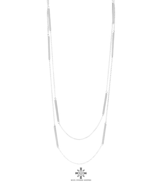 Cooper Necklace - Long | Polished Silver Detail