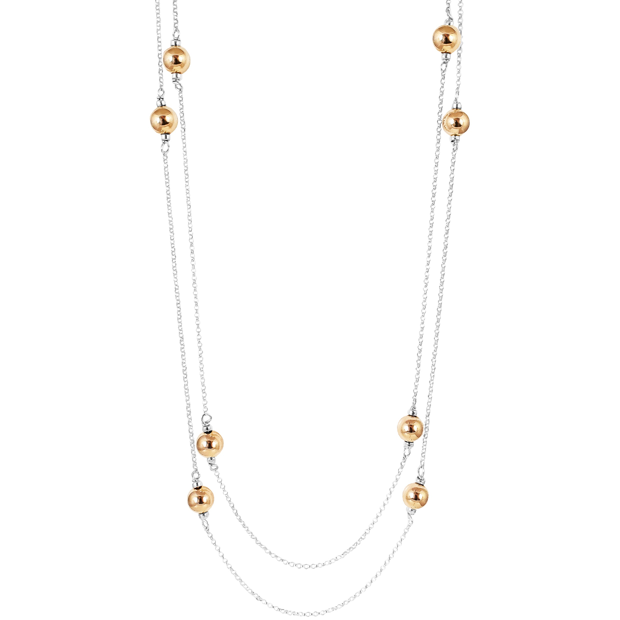 Carmen Necklace - Long | Polished Rose Detail