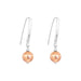 Catia Statement Hook Earrings | Hammered Rose Detail