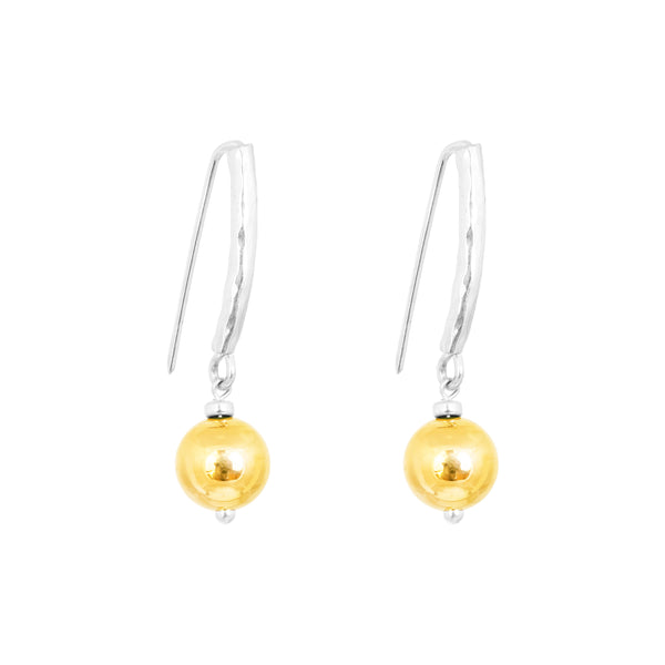 Catia Statement Hook Earrings | Polished Gold Detail