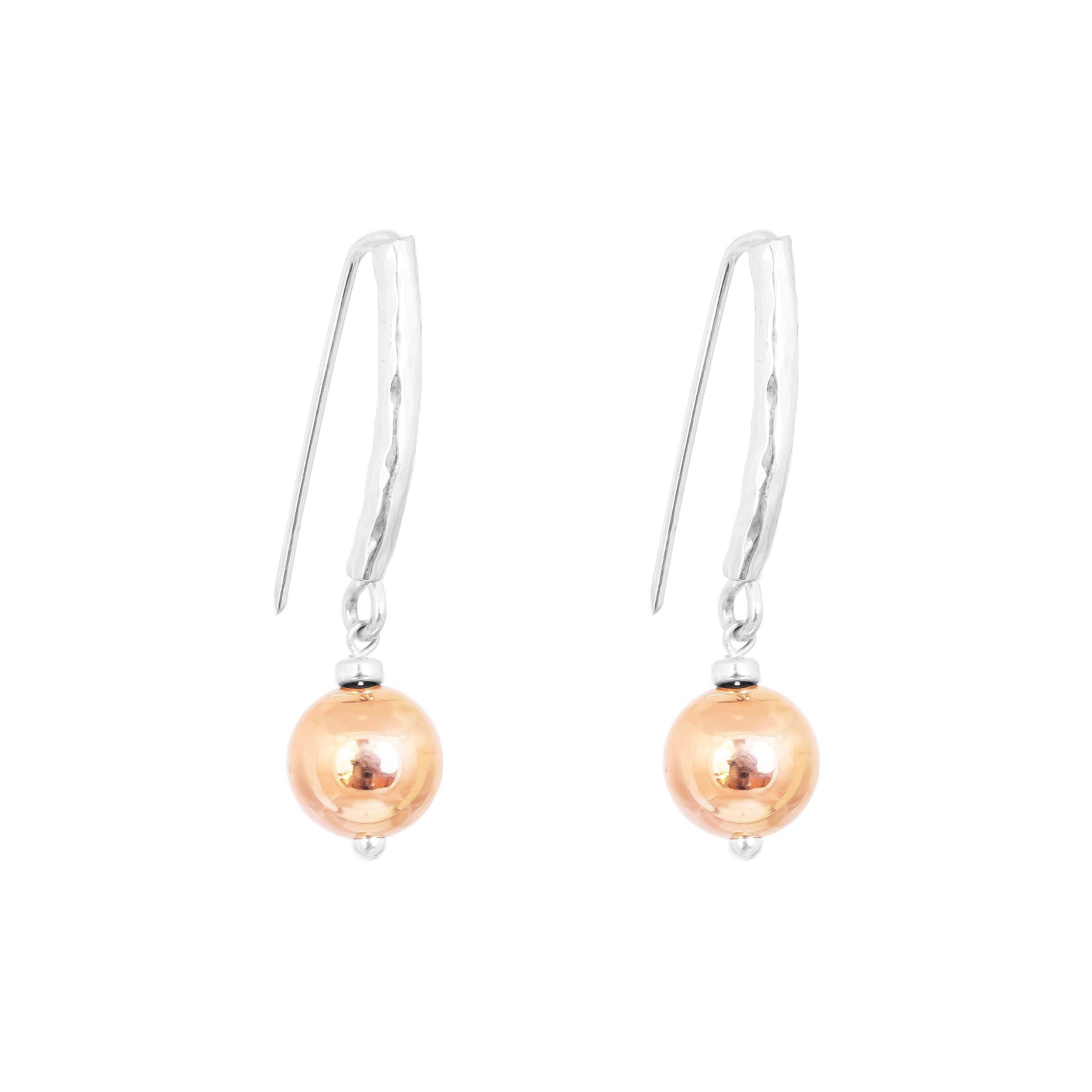 Catia Statement Hook Earrings | Polished Rose Detail