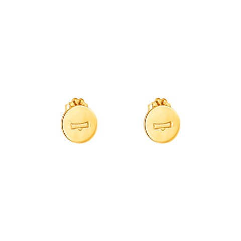 Charlotte Zodiac Stud Earrings | Gold