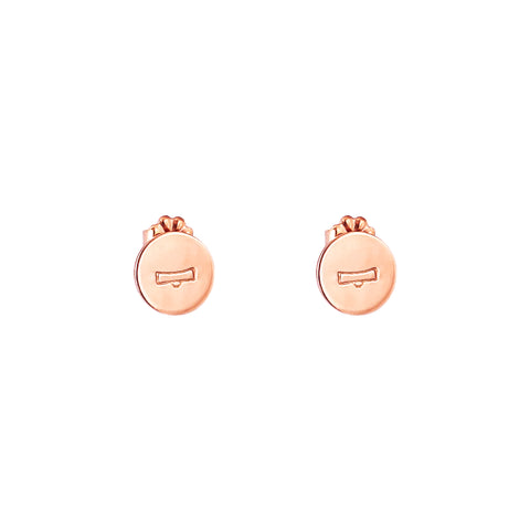 Charlotte Zodiac Stud Earrings | Rose