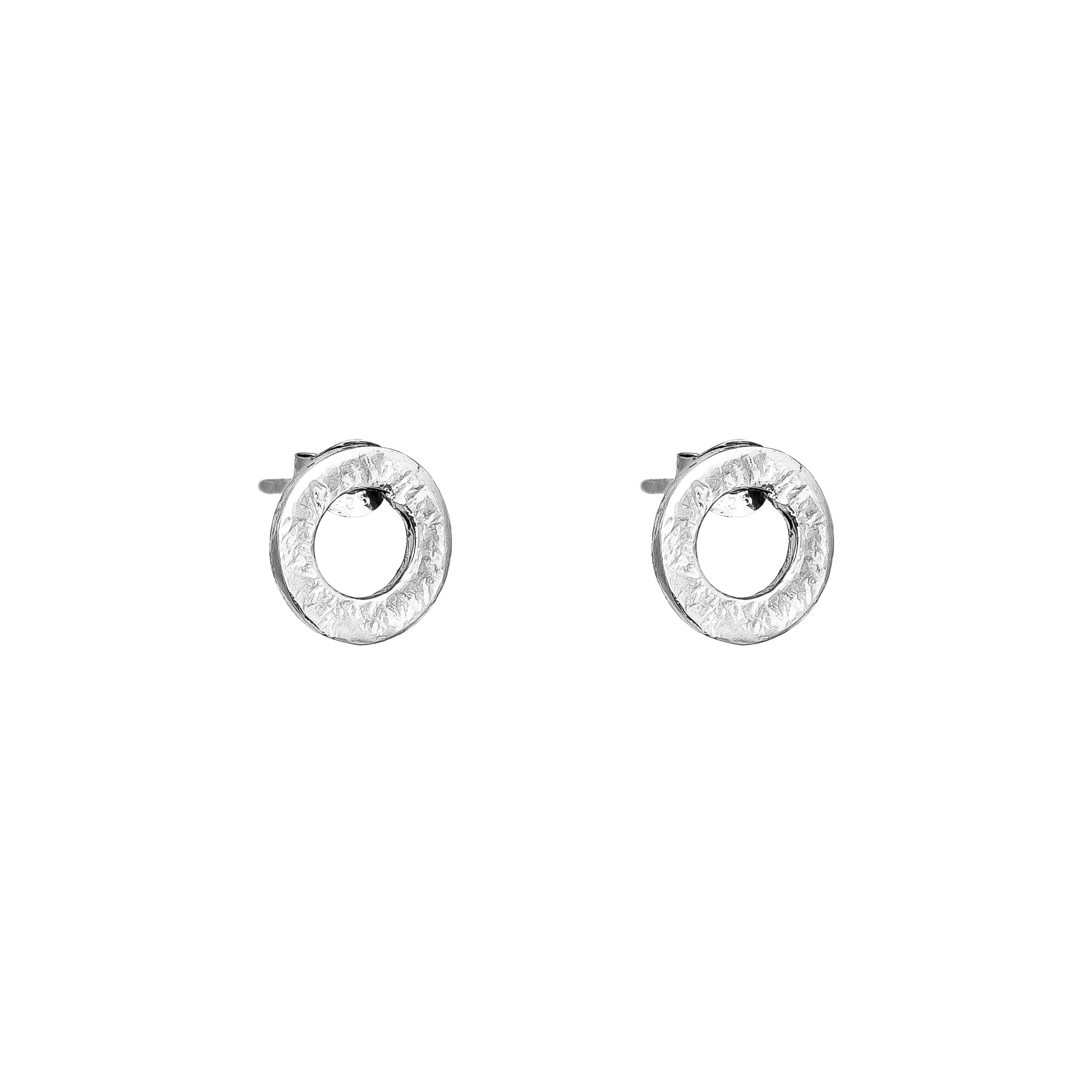 Chloe Stud Earrings With Chain Detail | Silver