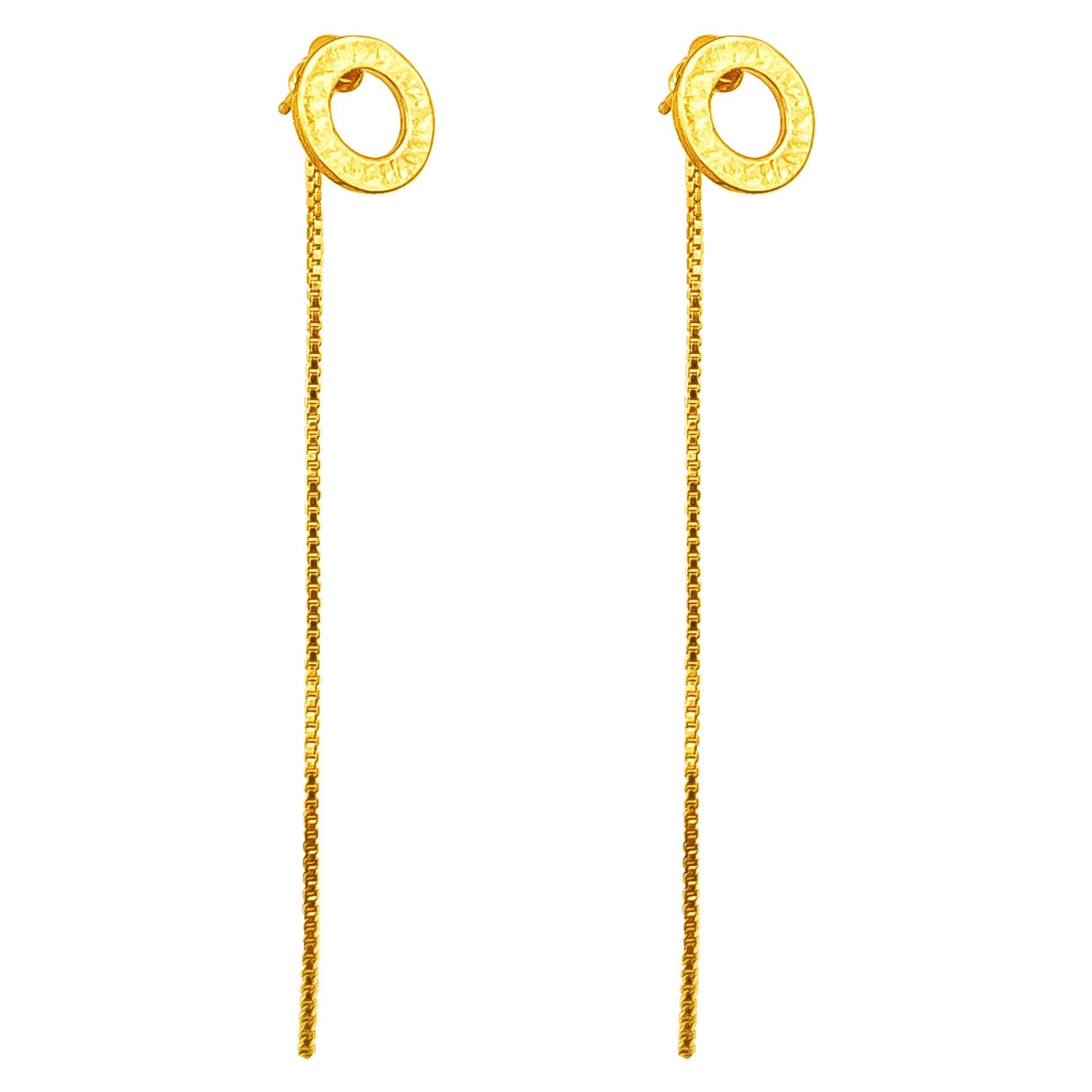 Chloe Stud Earrings With Chain Detail | Gold
