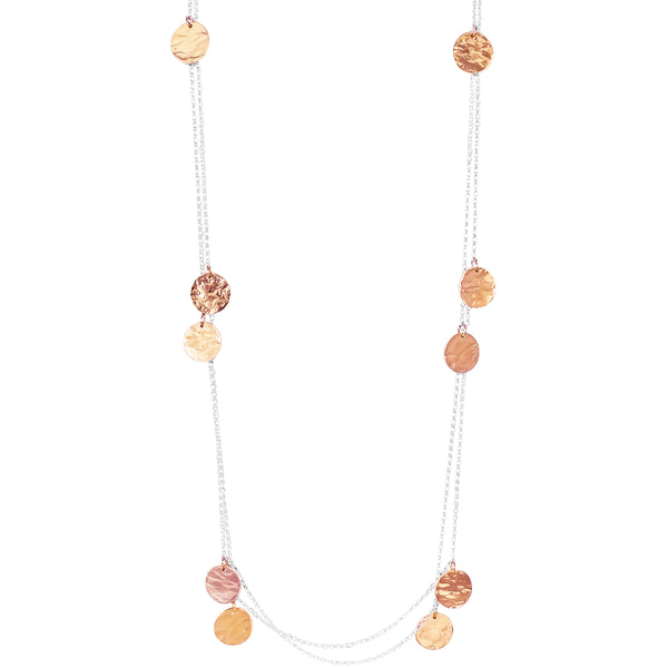 Coco Necklace - Long | Hammered Rose Detail