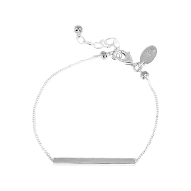Cooper Bracelet | Polished Silver Bar And Detail