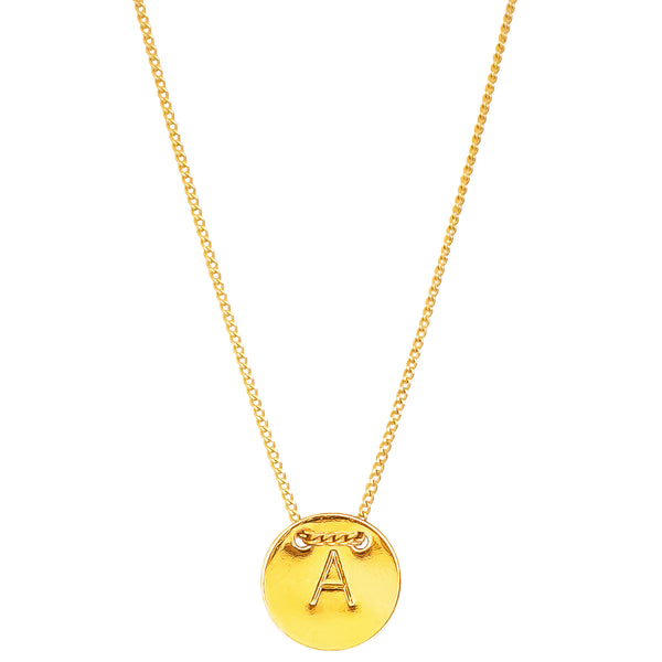 Delta Initial Necklace | All Gold