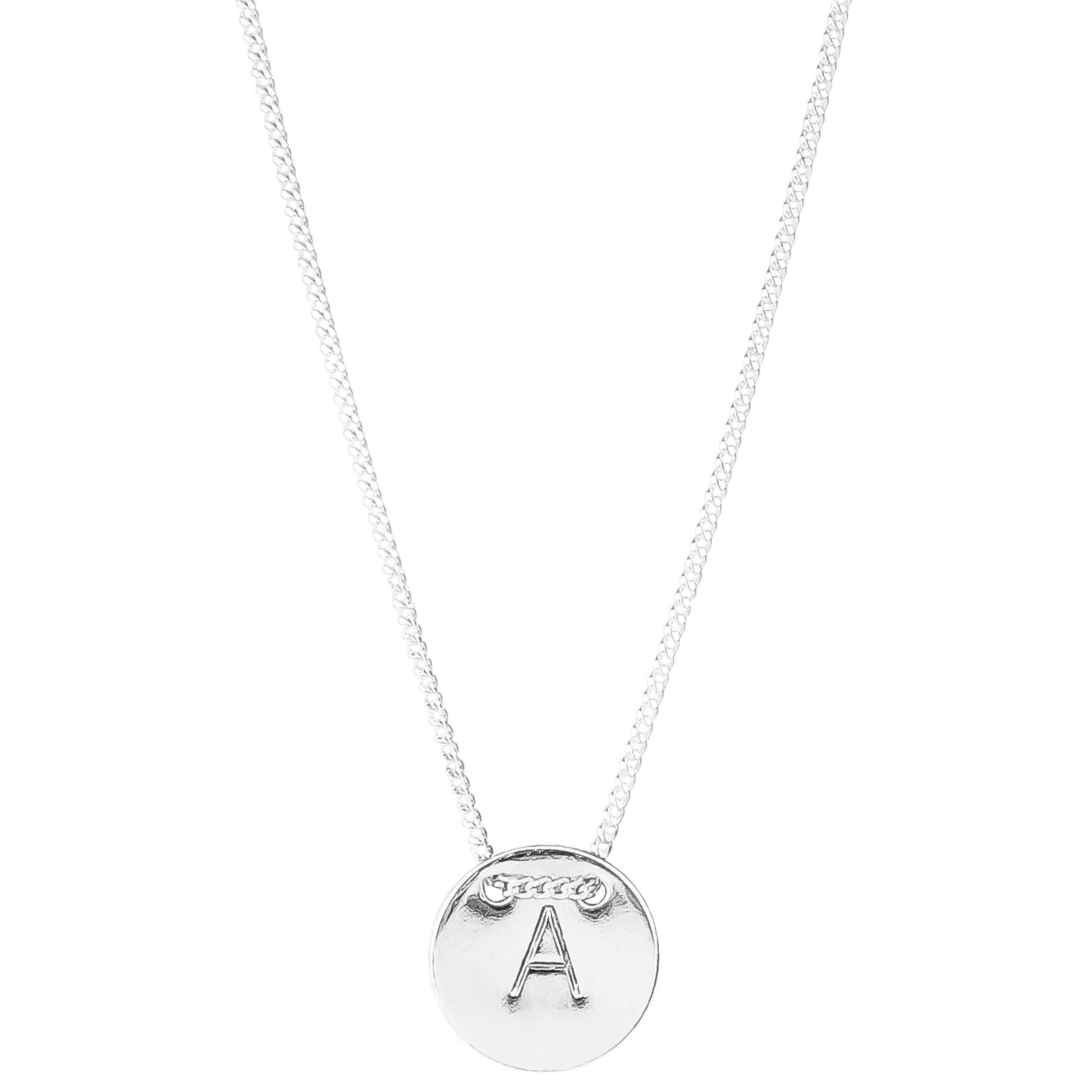 Delta Initial Necklace | Silver