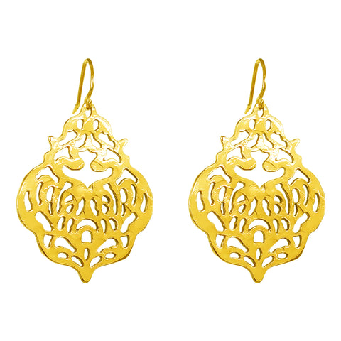 Flame Earrings | Gold