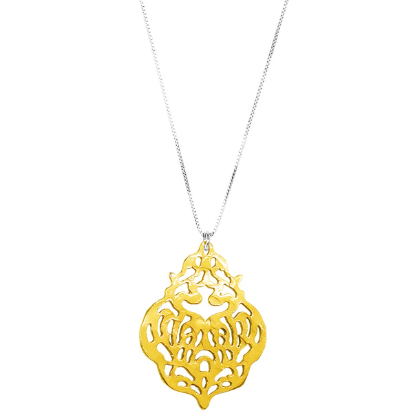 Flame Necklace - Long | Gold